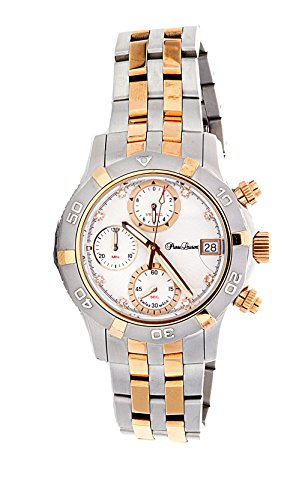 Pierre Laurent Swiss Made Ladies Mother of Pearl Diamond Dial Chronograph