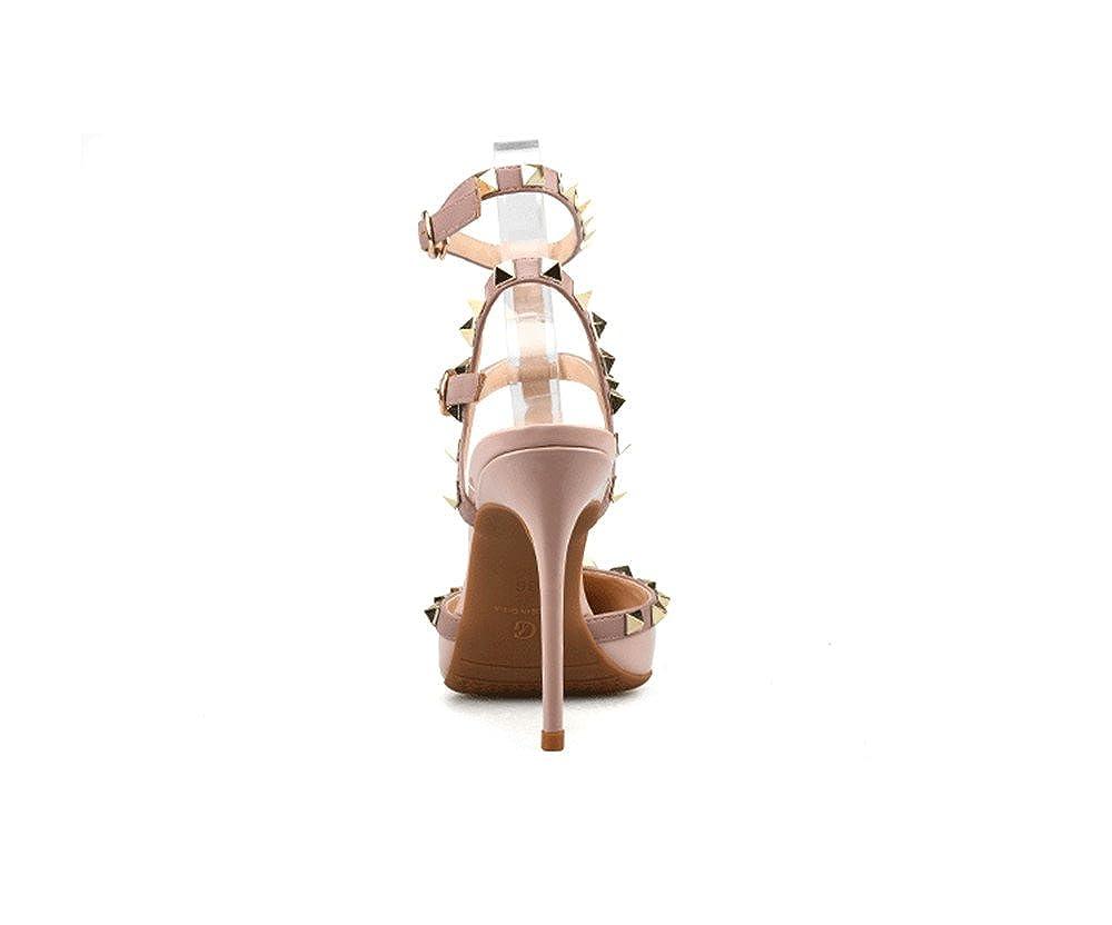 CCBubble High Heels Patent Leather Women Sandals Rivets Sandals Women
