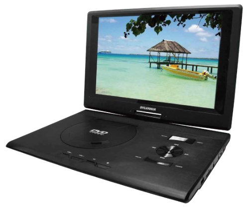 Sylvania 13.3-Inch Swivel Screen Portable DVD Player (SDVD1332) with USB/SD Card Reader (Dvd Player Portable Sylvania)