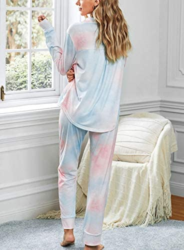 Charm4you Conjunto de Pijama de Manga Corta Tie-Dye,2020 ...