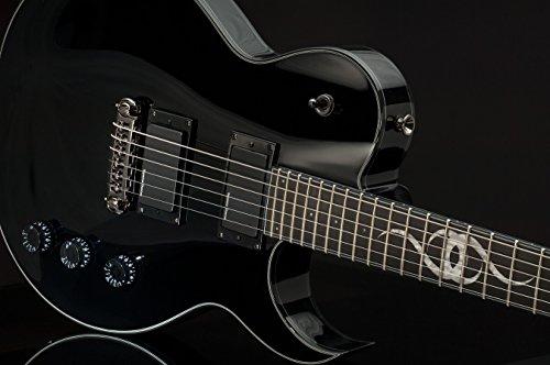Ethan Hart Guitar EH-1 Black Single Cutaway with White Binding ()