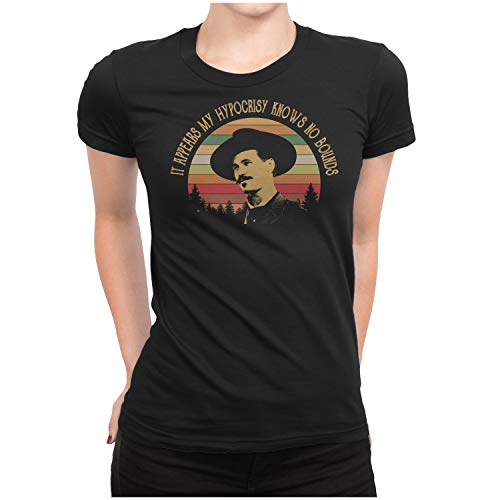 IT Appears My Hypocrisy Knows NO Bounds - Vintage Retro T-Shirt Womens/Black/XL