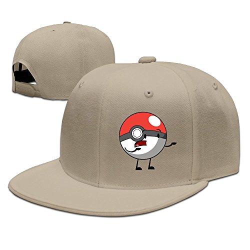 Fahion Cartoon Pokemon Go Ball Adjustable Hats Trucker Baseball Caps Natural (Pokemon Card Repeat Ball)
