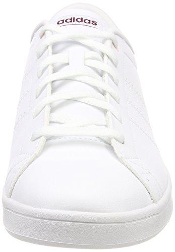 adidas Advantage CL QT W, Chaussures de Fitness Femme Blanc Cassé (Ftwr White/mystery Ruby F17)