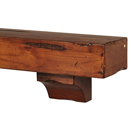 pearl mantels 412 24 50 shenandoah pine 24 inch wall shelf. Black Bedroom Furniture Sets. Home Design Ideas