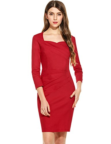 ANGVNS Womens Casual Cocktail Bodycon