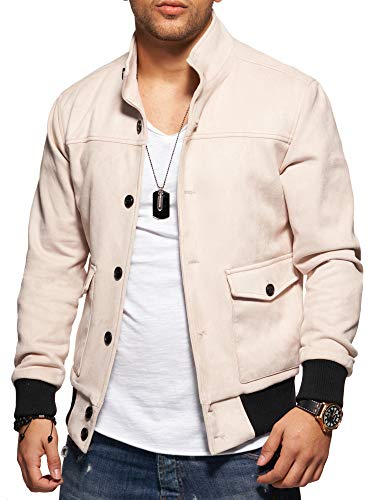 Srzsvxq Homme Cuir Veste 1001 K Reese Beige Rello Suede Amp; fvYbg76y
