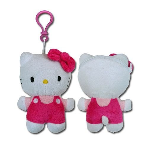 Hello Kitty Pink Plush Zipper Pull with Coin Purse