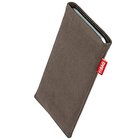 fitBAG Rock Taupe custom tailored sleeve for Nokia 6233. Fine suit fabric pouch with integrated MicroFibre lining for display (Nokia 6233 Case)