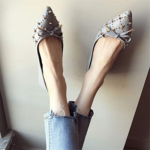 ufficio a arco da EU donna scarpe profondo da da EU Moda casual poco scarpe FLYRCX lavoro 39 piatta rivetto 37 scarpe punta nEqISTxxP