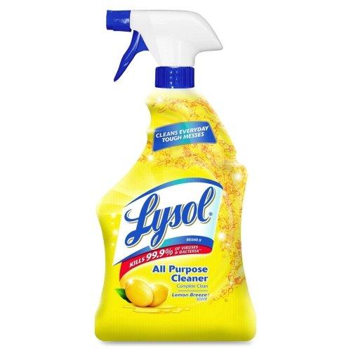 Lysol All-Purpose Cleaner - Spray - 32 fl oz (1 Quart) - Lemon Scent - Yellow