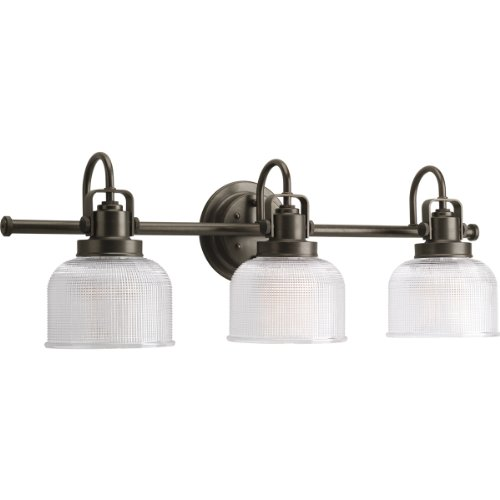 - Progress Lighting P2992-74 Archie Three Light Bath Vanity, Venetian Bronze Finish