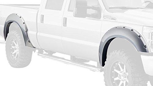 Bushwacker 20931-22 White Platinum Pocket Style Fender Flare for Ford, (Set of 4)