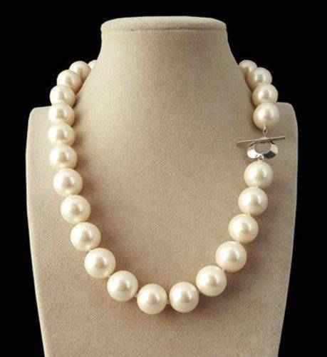 paweena Rare Huge 14mm Genuine White South Sea Shell Pearl Round Beads Necklace 18'' AAA