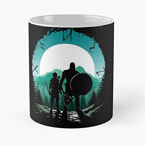 God Of War Kratos Cratus 4 11 Oz Coffee Mugs Best Gift For Father Day (God Of War 2 Blade Of Olympus)