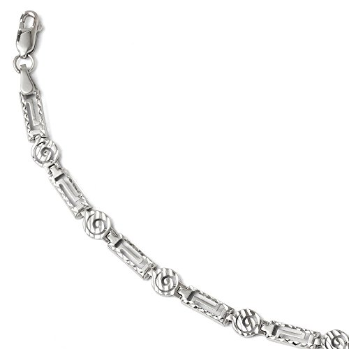 Or blanc 14 carats Diamant Coupe-Bracelet-JewelryWeb 7 ""