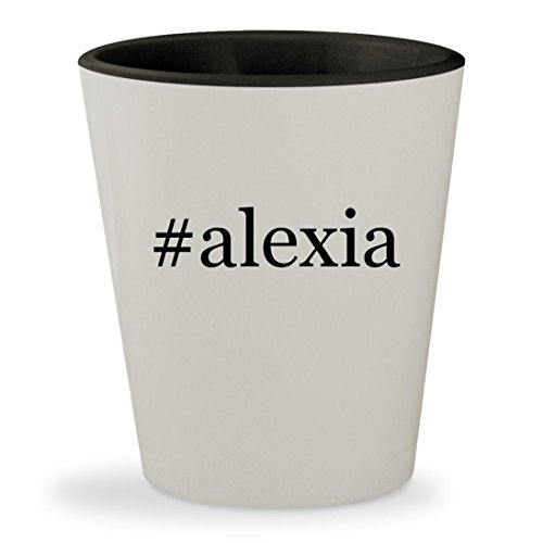 #alexia - Hashtag White Outer & Black Inner Ceramic 1.5oz Shot Glass