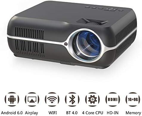 1080P LED Projector,Android 6.0 4200 Lumens WIFI HDMI Blueto