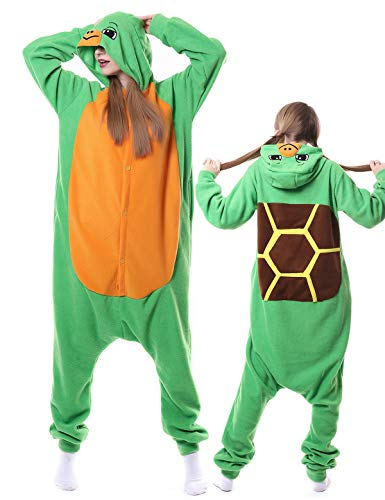 Turtle Onesies Adult Pajamas Halloween Xmas Costume Animal Cosplay Hoodie