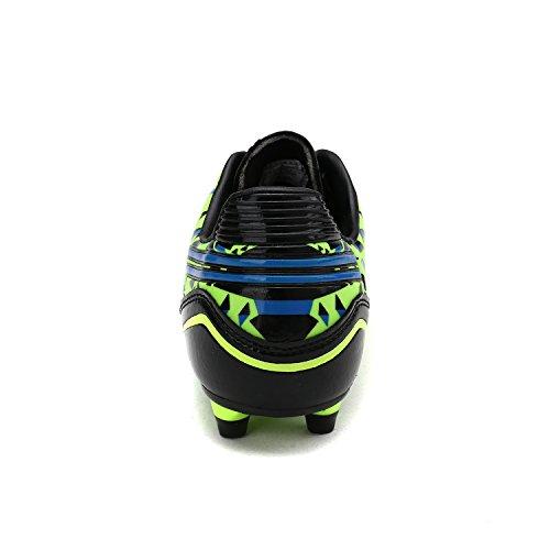 DREAM PAIRS Herren 160860-M Stollen Fußball Fußballschuhe Neon Grün Schwarz Royal
