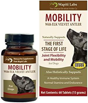 Wapiti Labs 60 Count Dog Mobilty with Elk Velvet Antler Tablets
