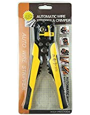 """Wire Stripping Tool, Self-adjusting 8"""" Automatic Wire Stripper/Cutting Pliers Tool for Wire Stripping, Cutting, Crimping 10-24 AWG (0.2~6.0mm²) (Self-adjusting)"""