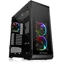 Thermaltake View 32 TG RGB ATX / Micro ATX / Mini-ITX Mid Tower Gaming Computer Case Chassis (Black)
