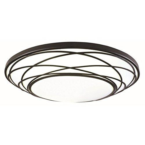 hade LED Flush Mount Light Fixture Black ()
