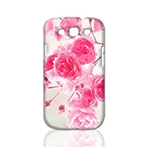 Pink Roses Flowers 3D Rough Case Skin, fashion design image custom, durable hard 3D case cover, Case New Design for Samsung Galaxy S3 I9300 , By Codystore Kimberly Kurzendoerfer