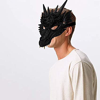 Reuvv Halloween Máscara 3D Dragón Disfraz Dragón Máscara Cosplay ...