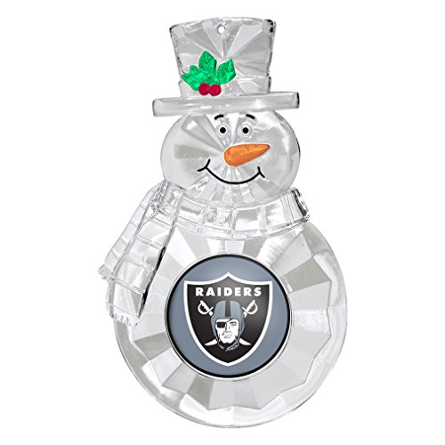 NFL Oakland Raiders Traditional Snowman Ornament Nfl Football Snowman Ornament