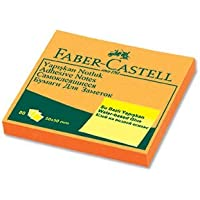 Faber-Castell Yapışkan Notluk 50 x 50 mm, Fosforlu Turuncu