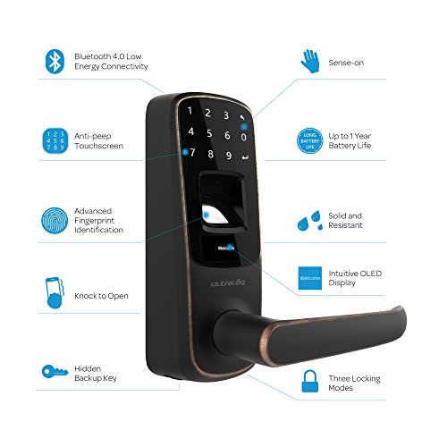 Ultraloq UL3 BT Bluetooth Enabled Fingerprint and Touchscreen Smart Lock (Aged Bronze) by Ultraloq (Image #6)