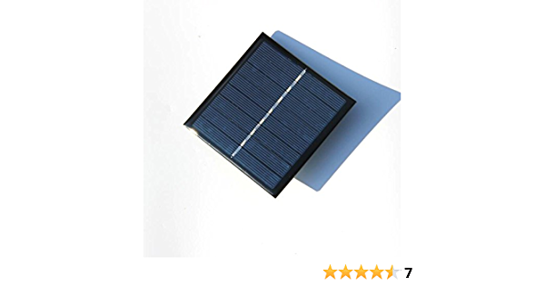 NUZAMAS AA Rechargeable Battery Solar Panel Charger Charging 2 Batteries 4V 1W