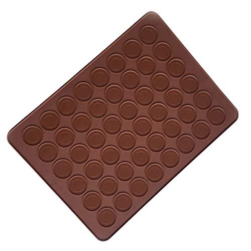 Wulofs Silicone 48 grid circle Macaron Fondant Mold Cake Decorating Chocolate Baking Mould Tool Ice Cube Tray Muffin Sugar Craft Fondant Mold