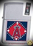 22687 MLB Angels Lighter with Flint Pack - Premium Lighter Fluid (Comes Unfilled) - Made in USA!