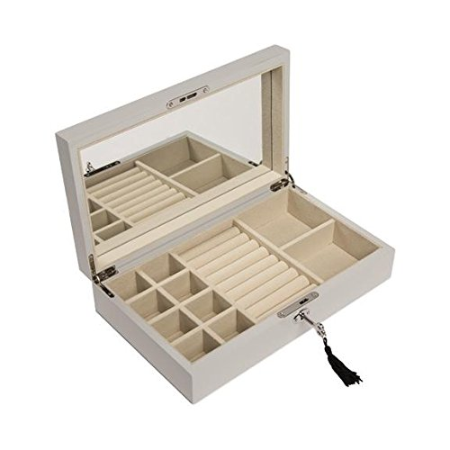 - Brouk and Co. - High-Gloss Jewelry Box - Silver