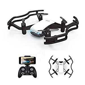 HAOXIN F21G IELLO FPV RC Drone quadcopter with 720P HD Camera Live Video, Optical Flow Positioning Gesture Control Choreography route planning mode AR mini drone helicopter for Kids & Beginners