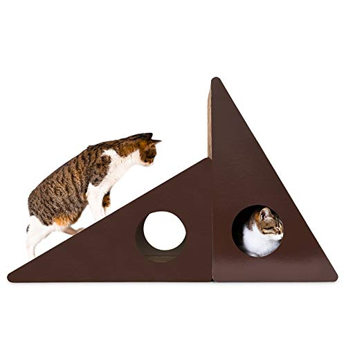 Cat Bed or Sofa hyx Triangular Wall Bell Corrugated Paper Cat Scratch Board Cat Litter Grinding Claw Toy