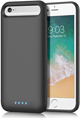 Funda Batería para iPhone 8766S, QTshine [6000mAh] Funda Cargador Portatil Batería Externa Recargable Carcasa Batería para iPhone 8766S [4.7