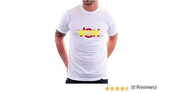 Custom Vinyl Camiseta Vox a Elegir (España Blanca, 4XL): Amazon.es ...