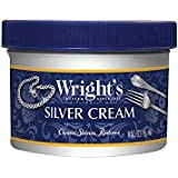 Wright's Silver Polishing Cream, 3-in-1, All-Purpose, Remove Tarnish, Clean, Shine and Protect All Silver, Pewter, Stainless Steel, Porcelain, Auto Chrome, 8 Oz