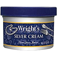 Wright's Silver Cleaner and Polish Cream - 8 Ounce with Polishing Cloth - Ammonia-Free - Gently Clean and Remove Tarnish…