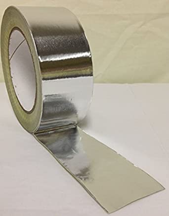 Roll 0f 48mm x 45m Aluminium Foil Insulation Bright Silver Tape Duct by Toolkit , 1 pack