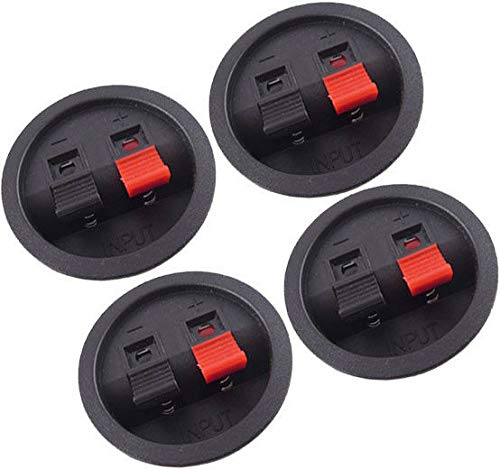 (4) Speaker Box Enclosure Terminal Cups w/Spring Connectors from Generic