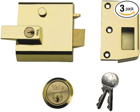 Yale Locks YALP2PM444KB Pestillo para puertas pack de 2