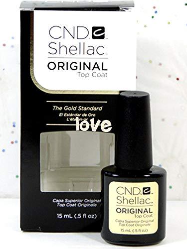 CND Shellac GelColor Nail Polish/Base/Top/Brand New Gel Color #1 - Choose Any Large Original Top Coat 0.5oz ()
