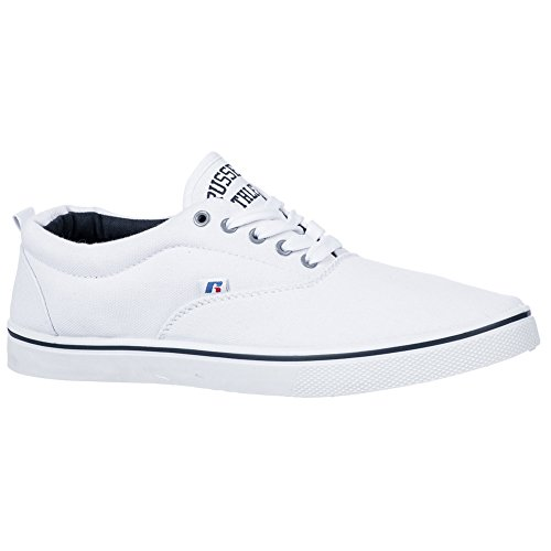 Russell Athletic Lace up White Canvas Shoes Pumps Plimsolls Trainers Sneakers a7Qps