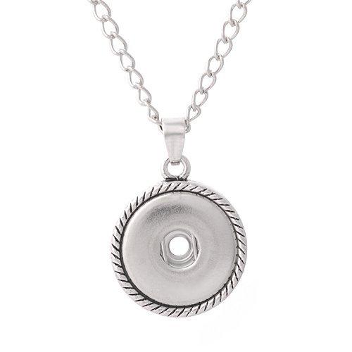 """Andante Chunk CHAINE de cou avec fermoir à cliquet ovale (47 cm) + Andante CHUNK bouton pression """"coeur"""""""