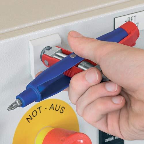 KNIPEX 00 11 07 Llave para armarios de control en forma de bol/ígrafo para armarios y sistemas de paso est/ándar 145 mm